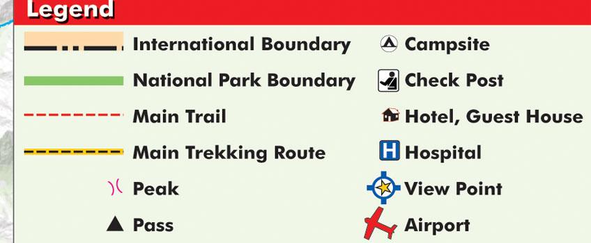 Everest 3 pass Trek Map feature